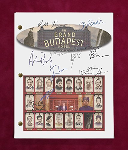 GRAND BUDAPEST HOTEL SCRIPT WITH REPRODUCTION SIGNATURES Fiennes Murray - Grand Record Budapest Hotel