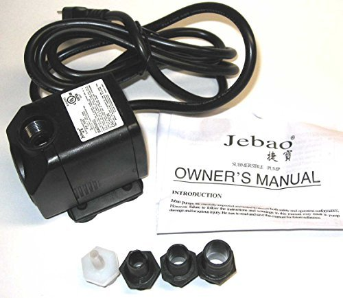 Fitting Pump - Bamboo Accents Jebao 264GPH 120V Submersible Pond or Fountain Pump, PP-399