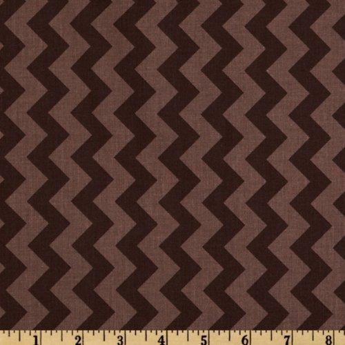 Riley Blake Chevron Small Tonal Brown Fabric By The Yard