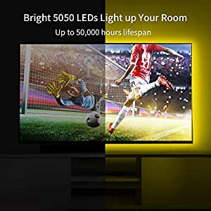 Govee LED Strip Lights, 16.4ft RGB Color Changing Light Strip Kit with Remote and Control Box for Room,Bedroom, TV, Ceiling, Cupboard Decoration, Bright 5050 LEDs, Cutting Design, Easy Installation