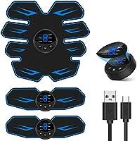 Mixiu EMS 腹筋ベルト 腕筋 トレーニン器具 液晶表示 USB充電式 6つモード 9段階調節 8腹筋パッド