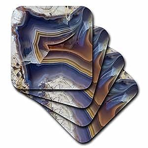 Danita Delimont - Rocks - Banded Agate, Quartzsite, blue - set of 8 Coasters - Soft (cst_229599_2)