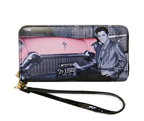 Closure Elvis Zip Pink Presley Black Wallet Around CCPxHqw