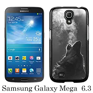 Unique Samsung Galaxy Mega 6.3 I9200 I9205 Cover Case ,Hot Sale And Popular Designed Case With Winter Wolf Howling Black Samsung Galaxy Mega 6.3 I9200 I9205 Case Unique And Cool Phone Case