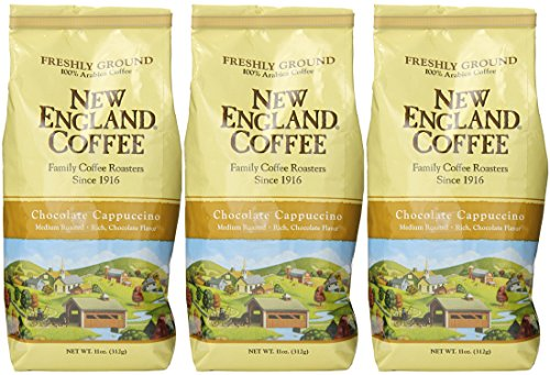 New England Coffee Chocolate Cappuccino 11 oz.- Ground - Pack of 3 ()