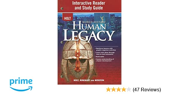 Amazon world history human legacy interactive reader and amazon world history human legacy interactive reader and study guide 9780030937835 rinehart and winston holt books fandeluxe Images