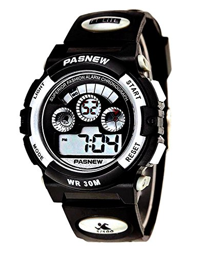 Black Waterproof Swimming Sports Digital Watch Gift for Boys/Girls/Kids/Childrens age 5-12 Years Old