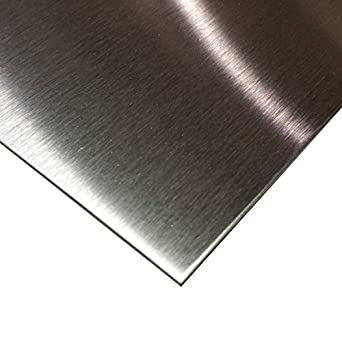Amazon Com Online Metal Supply 304 Stainless Steel Sheet 029 22 Ga X 12 X 24 4 Brushed Finish Industrial Scientific