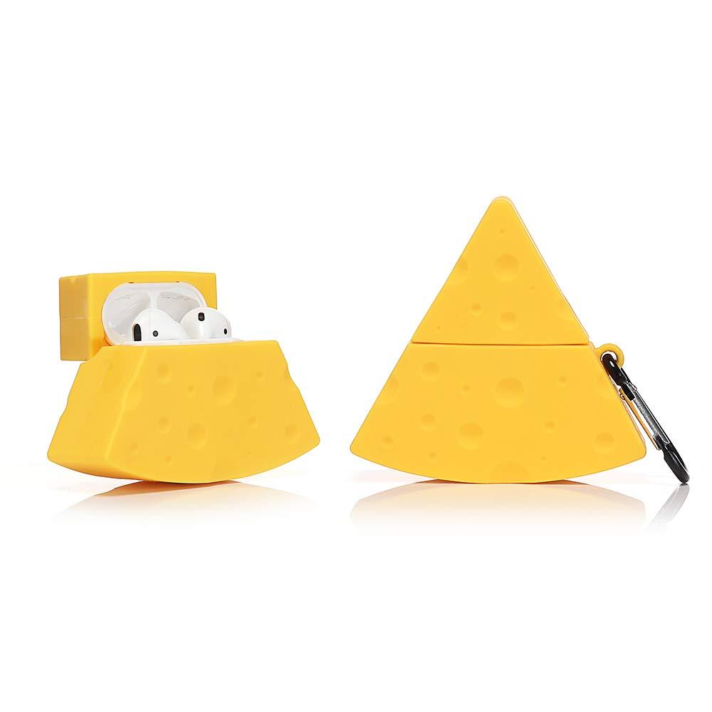 ویکالا · خرید  اصل اورجینال · خرید از آمازون · LEWOTE Airpods Silicone Case Funny Cute Cover Compatible for Apple Airpods 1&2[Dessert Food Series][Best Gift for Girls Boys or Couples] (Cheese) wekala · ویکالا