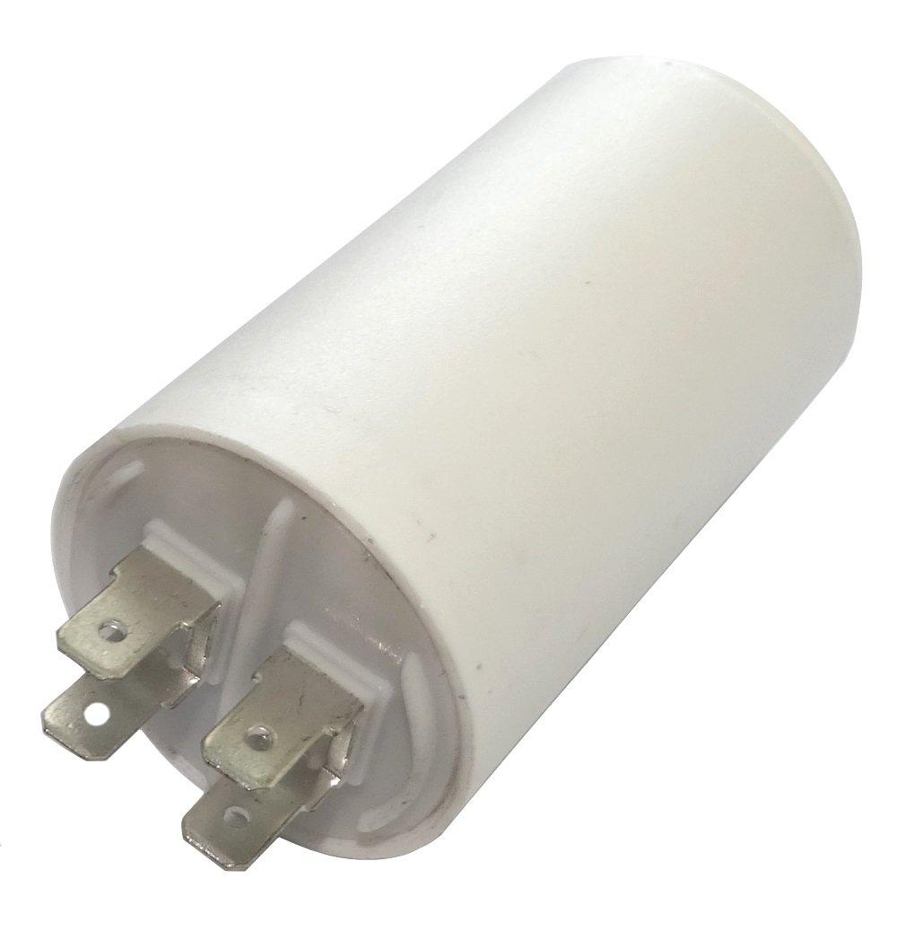 Aerzetix - Condensatore permanente di lavoro per motore 20µ F 450V con capicorda 6, 3 mm Ø 40x70mm ± 5% 3000h 3 mm Ø40x70mm ±5% 3000h C18632-AL621