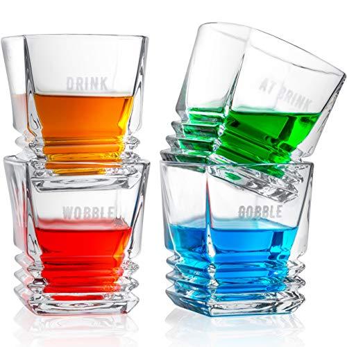 Premium Crystal 9 Oz. Whisky Glasses Set of 4 | Fun