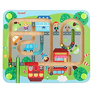 Magnetic Traffic Maze STEM Toys - iwood Wooden Puzzle Toy