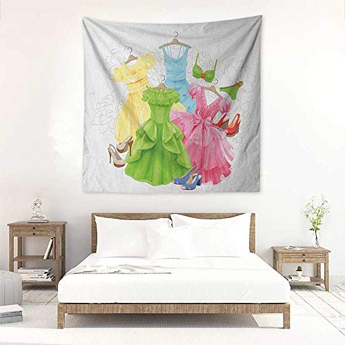 Heels and Dresses Square Tapestry Wall Hanging Princess