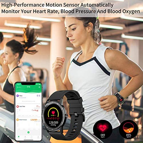 WAFA Smart Watch Fitness Tracker with Heart Rate Blood Pressure SpO2 Monitor IP68 Waterproof Sport Watch Calories Sleep Tracker Pedometer for Men Women Smartwatch Compatible with iPhone Android Phones 2