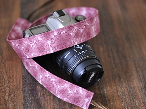 Plum-Dandelion-dSLR-Camera-Strap