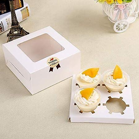 Caja de regalo de papel con 2 o 4 agujeros, caja de papel kraft portátil, 10