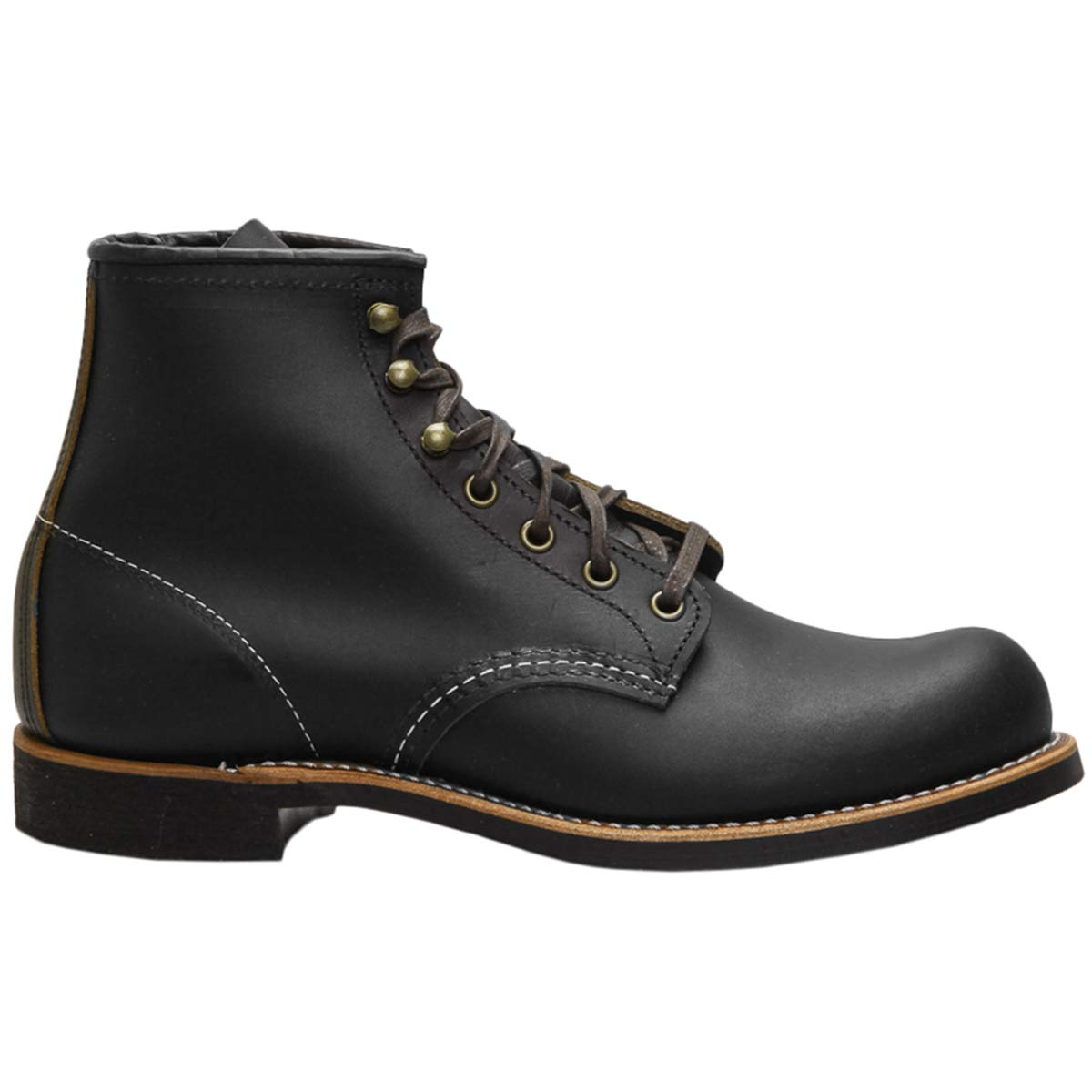 - Red Wing Mens Blacksmith Black Prairie Leather Boots 11.5 US