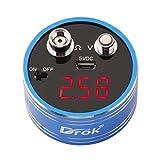 DROK Digital Voltmeter Ohmmeter Ohm Volt Meter Multimeter Low Resistance Reader Rechargeable Small DC 0-12V 0-20O Voltage Battery Testing Gauge 3-Digital Red LED Display