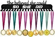 Medal Holder, Medals Display Hanger Rack with Hooks for 40+ Medals, Ribbons Display, Sports Medal Hanger, Prem