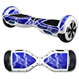 MightySkins Protective Vinyl Skin Decal for Hover Board Self Balancing Scooter mini 2 wheel x1 razor wrap cover sticker Lightning Storm