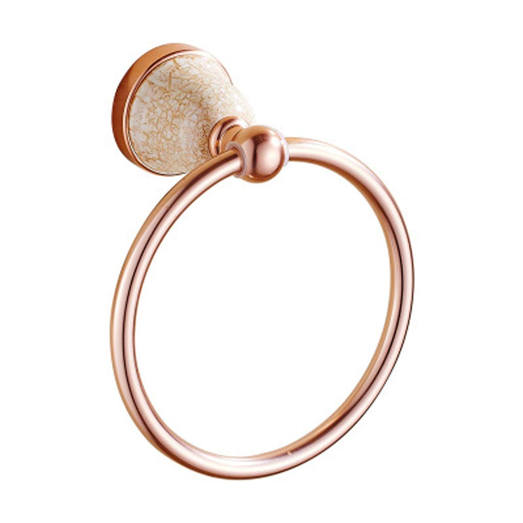 ZHANGY Bathroom Accessories/Towel Ring, European Style Aluminum Alloy Ceramics Wall Mounted Bathroom Accessories