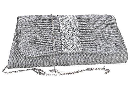 Borsetta donna ROMEO GIGLI pochette argento da cerimonia VN1347