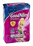 GoodNites Bedtime Underwear Disney Fairies Girls S/M 14 CT (Pack of 4)