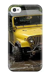 Cute Appearance Cover/tpu CrTeSkO1295MBRZg Jeep Case For Iphone 4/4s