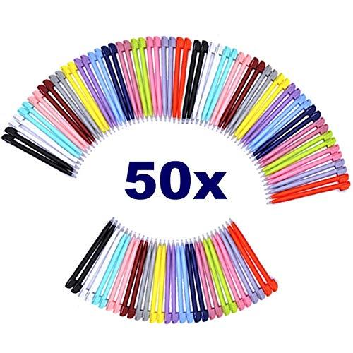 50pcs/Pack Stylus Pen 8.5cm Muti-Color Plastic Touch Stylus Pen Game Accessories for Nintendo DS Lite (Colors by Random) by Paialu