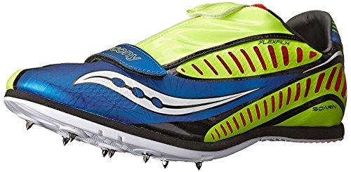 Saucony Men's Soarin J Spike Track Shoe, Royal/Citron/Red, 48 D(M) EU/12 D(M) UK