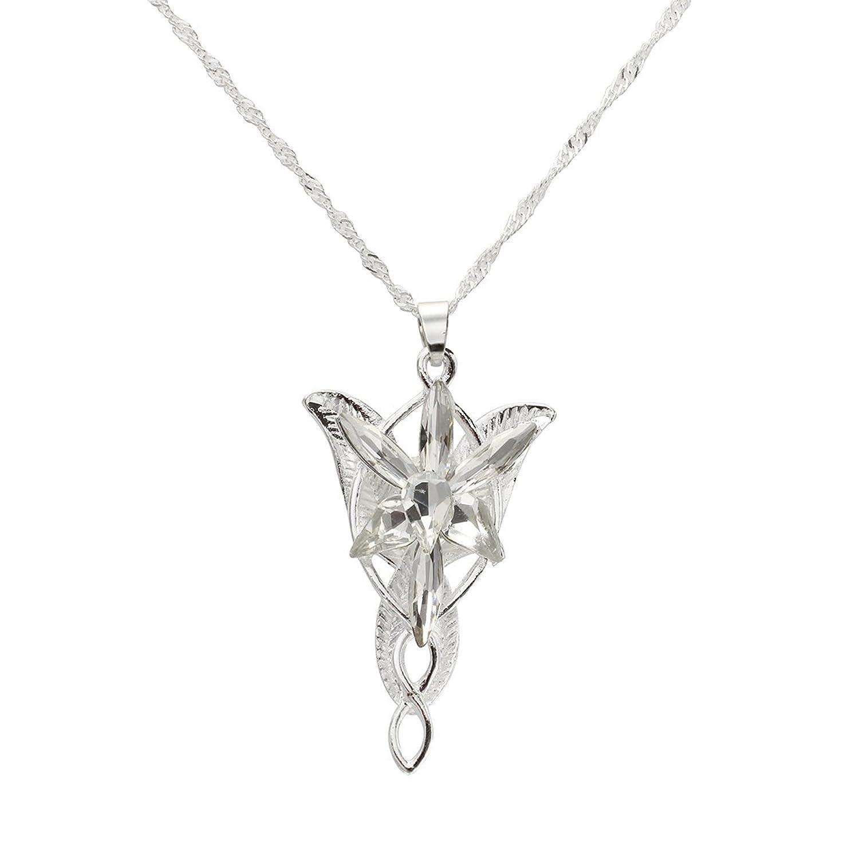 SODIAL R Mini Colgante Estrella de la Tarde colgante de Plata