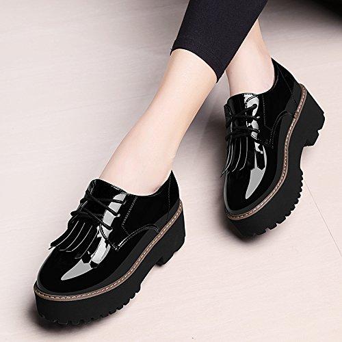 Shoes Spring Platform Black Tide Shoes Flat Casual Match All KHSKX Students Korean Shoes Female Shoes xUt868