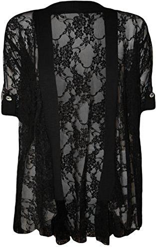 Comfiestyle - Camiseta de manga larga - capa - para mujer negro
