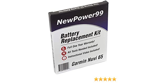 NewPower99 Battery Replacement Kit for Garmin Dezl 770 with Installation Video Tools and Extended Life Battery.