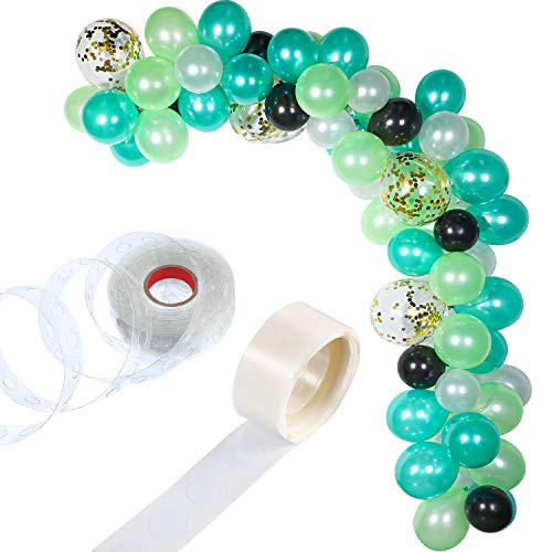 Tatuo 112 Pieces Balloon Garland Kit Balloon Arch Garland for Wedding Birthday Party Decorations (White Green Gold)]()
