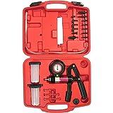 Hand Held Vacuum and Pressure Pump Tester Kit + Brake Fluid Bleeder + Adapters