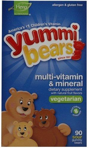 YUMMI BEARS® - MULTI-VITAMINS & MINERALS VEGETARIAN - 90 BONBONS