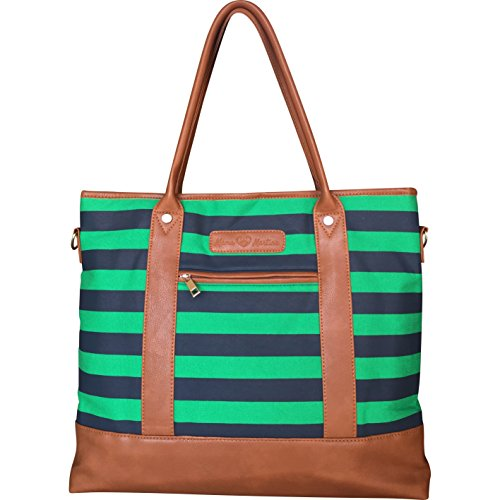 lightweight-diaper-bag-with-changing-pad-green-navy-stripe-by-mama-martina