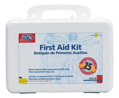 First Aid Only 25 Person Bulk First Aid Kit, 107-Piece Kit by First Aid Only