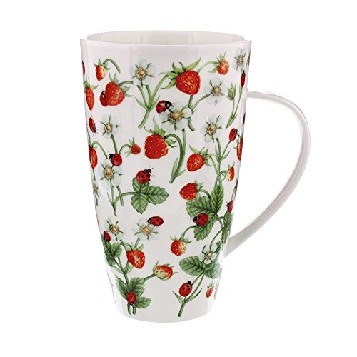 (Dunoon Henley Fine China DOVEDALE STRAWBERRY Mug Cup 20.29 fl oz)