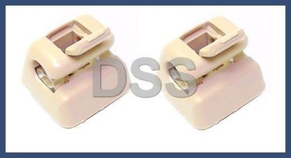 Amazon.es: Mercedes (77 - 95) sol visera Clip Set (X2) color crema Genuine