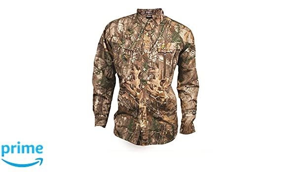 1b83ccac46411 Amazon.com : Robinson Outdoor Products Scent Blocker Trinity Featherlite  Shirt : Clothing