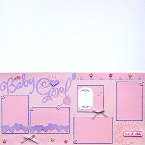 Baby Girl (2) Scrapbook Pages Premade