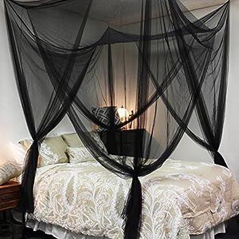 Adarl Indoor Elegant Twin Full Queen King Size Bedding 4 Corner Post Bed Canopy Bedroom Sleeping & Amazon.com: Octorose ® Vivid Red 4 Poster Bed Canopy Functional ...