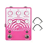 pitch modulator - EarthQuaker Devices Rainbow Machine V2 Polyphonic Pitch shifting Modulator Guitar Pedal with Secondary, Pitch, Primary, Magic, Tone and Tracking Controls with a Pair of R-Angle Patch Cable