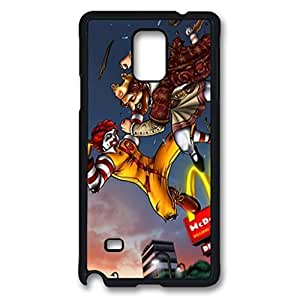 Fast Food Fight Custom Back Phone Case for Samsung Galaxy Note 4 PC Material Black -1210181 hjbrhga1544
