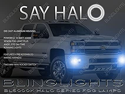 amazon com 2014 2015 2016 2017 gmc sierra angel eye halo fog lamps rh amazon com Dodge Fog Light Wiring Harness Ford Fog Light Wiring Harness