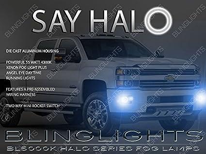 amazon com 2014 2015 2016 2017 gmc sierra angel eye halo fog lamps rh amazon com