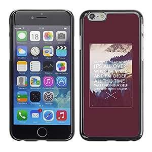 Cubierta de la caja de protección la piel dura para el Apple iPhone 6PLUS (5.5) - motivational inspiring Alaska quote poster