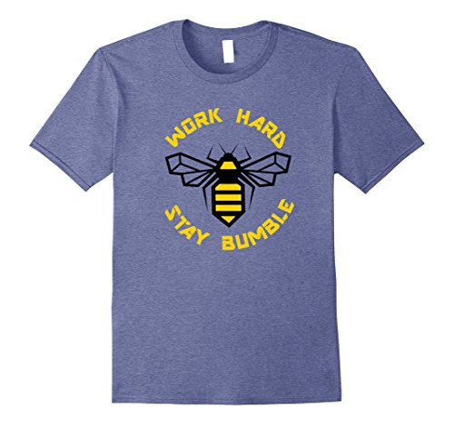 Bumble Bee Merchandise (Mens Bee Funny Work Hard Stay Bumble Humble Honey Gym Shirt XL Heather Blue)